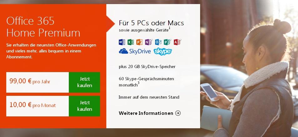 Office 2013-Lizenzen sind PC-gebunden